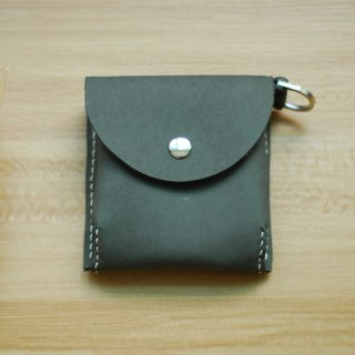 Change small bag leather hand sewing (gray)
