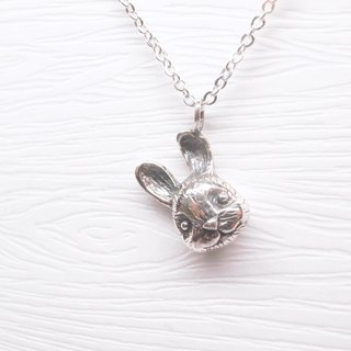 Two hair silver [rabbit Babi necklace]