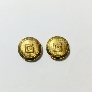 Small GG gold vintage earrings / pin type