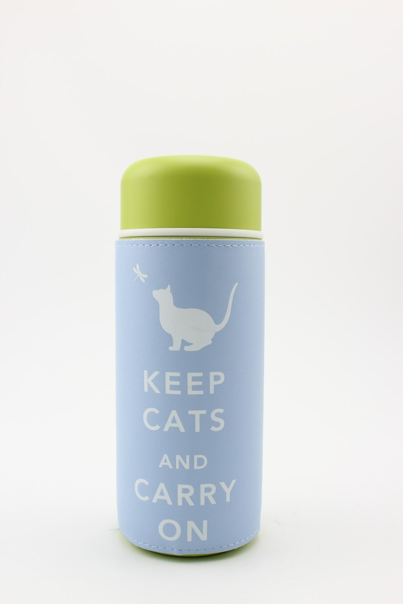 Keep Cats & Carry On Tumbler Travel Mug- Sky Blue