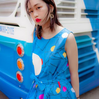 Space geometric ice dress