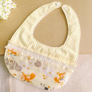 Lace little fox - baby bib, saliva towel