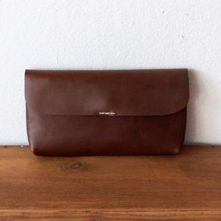 Leather Long Wallet / Dark Brown
