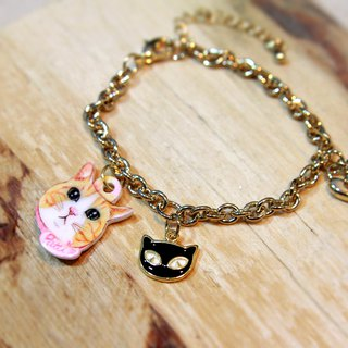 Gifts of choice - pet pendant customized gold-plated bracelet - black cat models