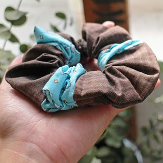 Hand made hair scrunchy- The Bricks and soil