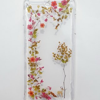 Handmade phone case, Pressed flowers with nature, Autumn