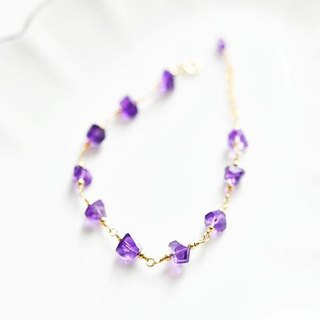 Love's guardian stone flava lock tumble amethyst bracelet February birthstone