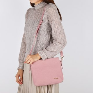 Petite Pink Color Suedette Faux Leather Shoulder Bag