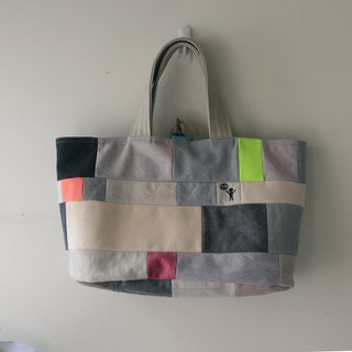 [Cloth hug] hand-stitched handbag> patchwork bag