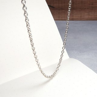 Matching chain - 925 sterling silver chain classic circle chain 2.5mm medium width 18~32 inches custom length