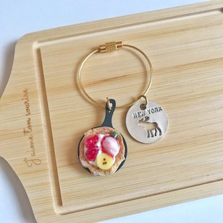 key ring /miniature bread /banana