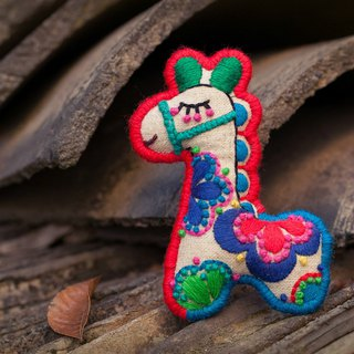Meng Xiaoma original handmade embroidery cartoon brooch 12 Zodiac I am a new Chinese original antique