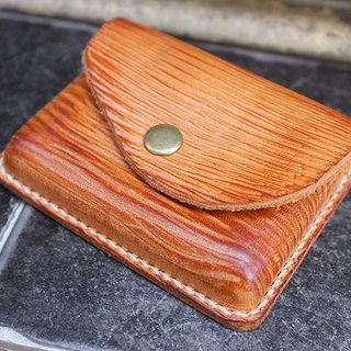 """Wood grain series"" old stuff card holder"