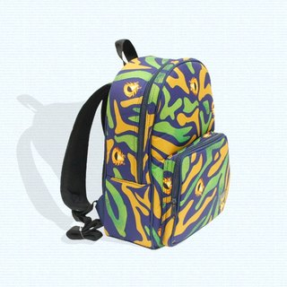 Air backpack for kids - purple (no teeth tiger)