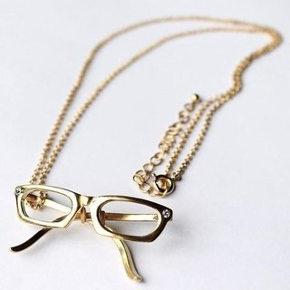Oval frame glasses necklace GP