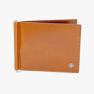 Clip Wallet / Money Clip / Leather / Card Case / Brown