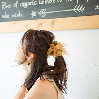 party | Party Brown || Blooming Sakiami Colourful Hair Scrunchy / Hair Accessory