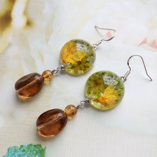 Pressed Flower Earrings. Handmade Jewelry with Real Flowers,Part2