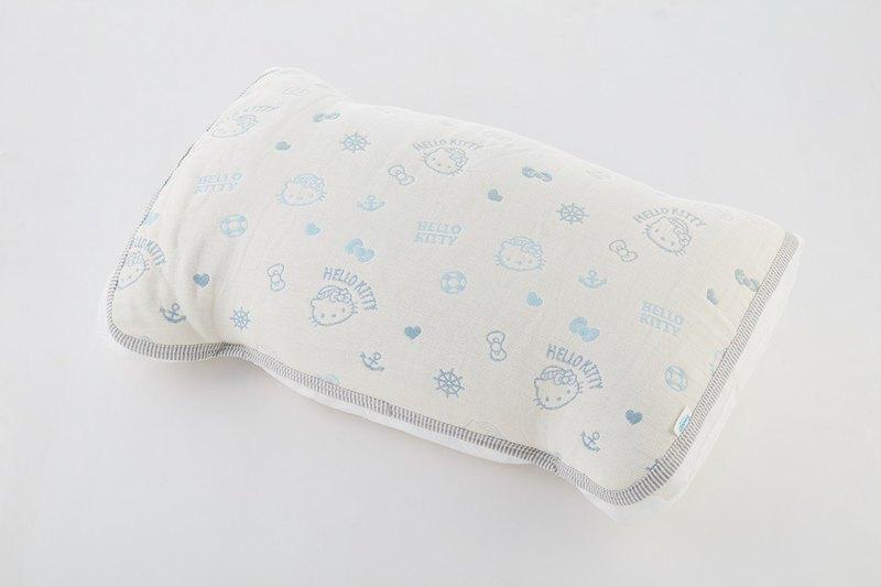 【日本製三河木綿】六重紗枕套-Kitty海洋樂園