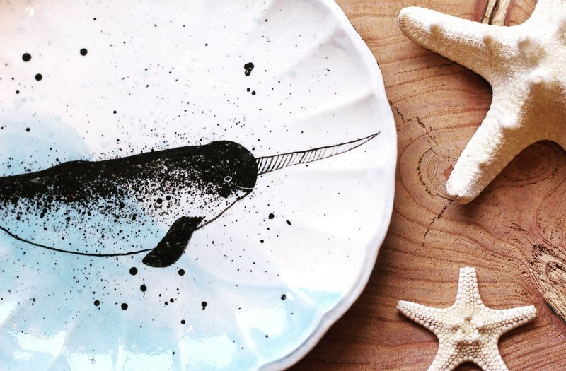 Narwhal ☆ plate