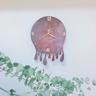Stop time lapse leather clock