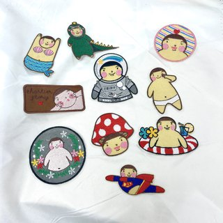 Fat Boy Lok Embroidery Pin