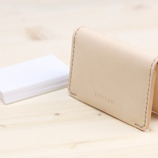 Classic 20% Business Card Holder/Card Holder - Original Leather Color