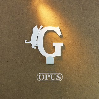 【OPUS East Qi metalworking】 cat cats met the letter G-hook (elegant white) / Mural hook / furniture rack / living storage / hanger / modeling hook / trace / small wedding HO-ca10-G )