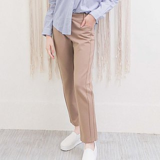 Elastic Knit Cropped Pants (2 colors)