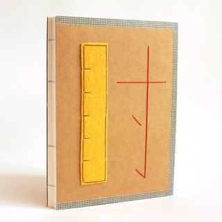 Handmade A5 Notebook - A Ruler of Time (尺寸)