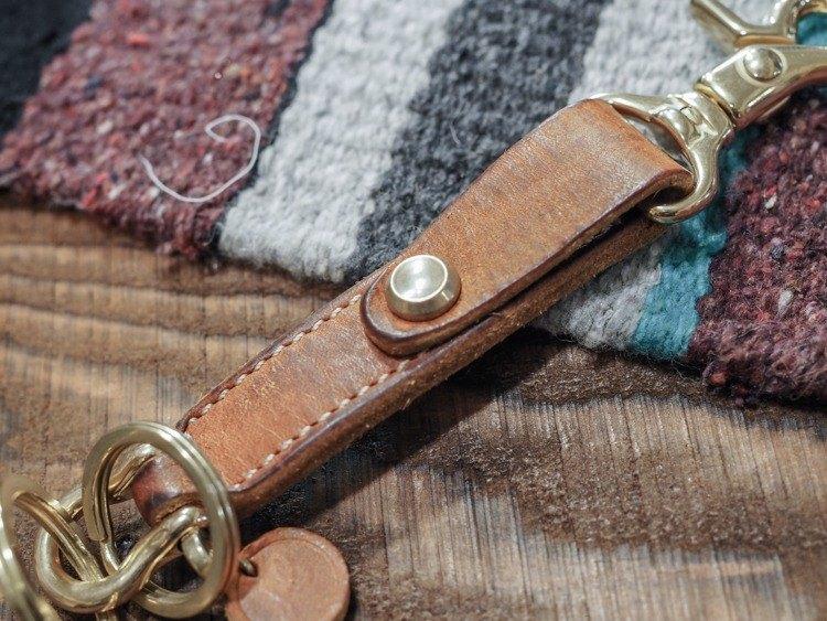 Key Chain 皮革鑰匙圈- 黃棕