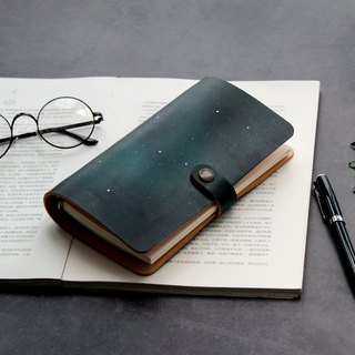 The first layer of vegetable tanned leather Aurora A5 A6 A7 loose-leaf notebook handmade leather notebook customization