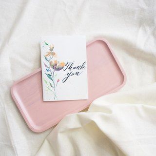 Mstandforc Ink florals Handmade Card|Thank you