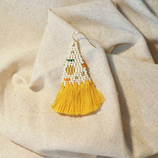 Sunshine Tassel Bead Earrings