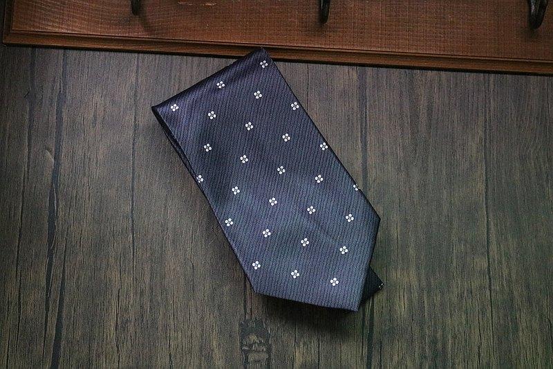 灰色幾何圖形方塊領帶真絲商務百搭necktie