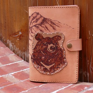Leather notebook notes books Zhazilin - Taiwan Jade black bear