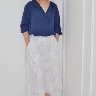Flat 135 X Taiwan designer series little chiffon fabric wide tube chiffon pants