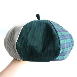 Green Department quilted hand-sided hexagonal hat painter hat