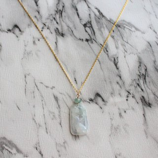 Journal- 踏雪寻梅 Pure natural white ice jade (Burma jade) Plum small sterling silver necklace