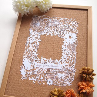 Custom WEDDING/ANNIVERSARY/BIRTHDAY/NEWBORN GIFT Handmade Paper Cutting