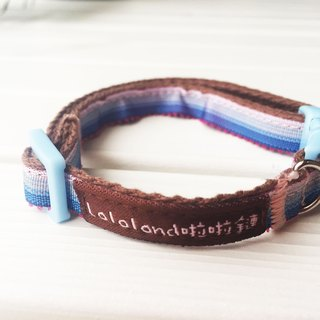 Chain hair child collar - pink blue gradient layer of general buckle 1 section section [spot]