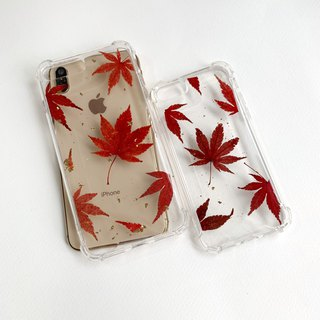 Fall in Love :: Maple with gold foil phone case