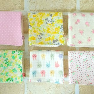 Cotton Baby Wash Cloths, Set of 6, Handkerchief, Soft Japanese Double Gauze