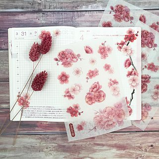 [Golden Age] plum blossom and paper stickers