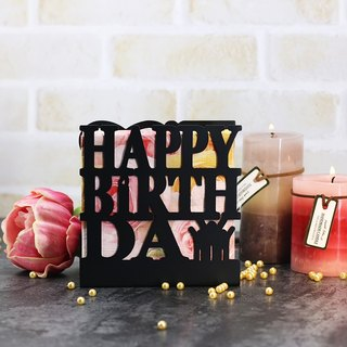 (Black) / European Iron Napkin Cloth / postcard / photo stand / creative small / three-dimensional practical birthday card / birthday gift LE-hb28 (B)