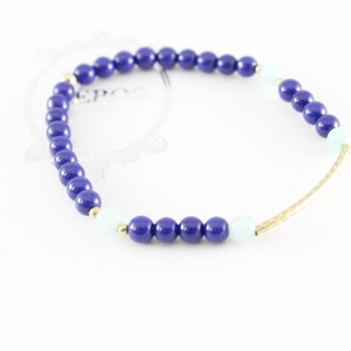 Wealth accumulation blue ore Bracelet