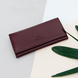 'POPPY' WOMAN LONG LEATHER  WALLET- PURPLE