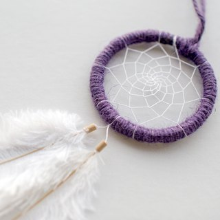 Dream Catcher Material Pack 8cm - Freedom of Drift (Hemp Rope - Purple) - Hand made diy gift