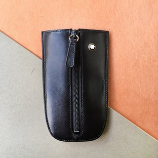 MONTBLANC Montblanc key case | German classic leather black key