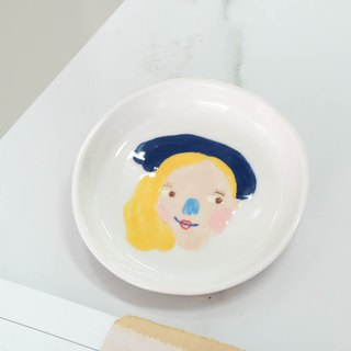 Ceramic plate PAINT CHARACTER
